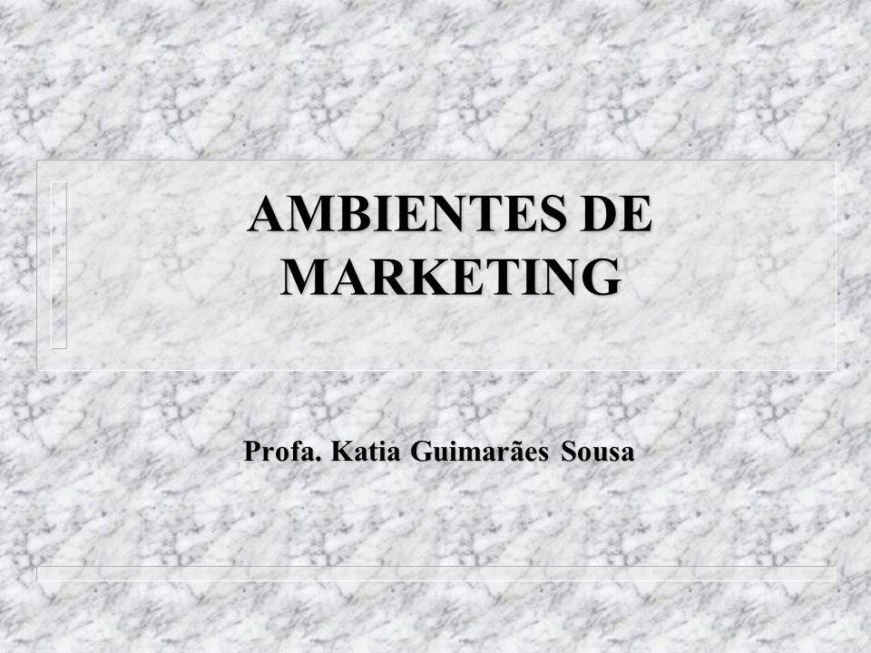 AMBIENTES DE MARKETING Profa. Katia Guimarães Sousa