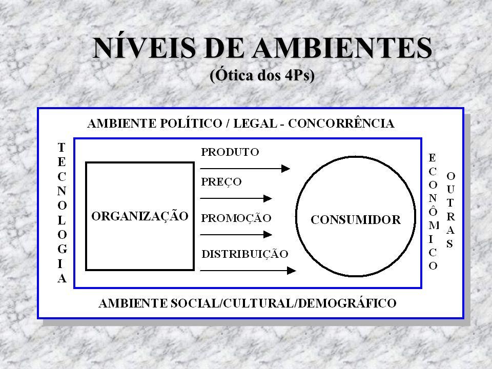 NÍVEIS DE AMBIENTES (Ótica dos 4Ps)