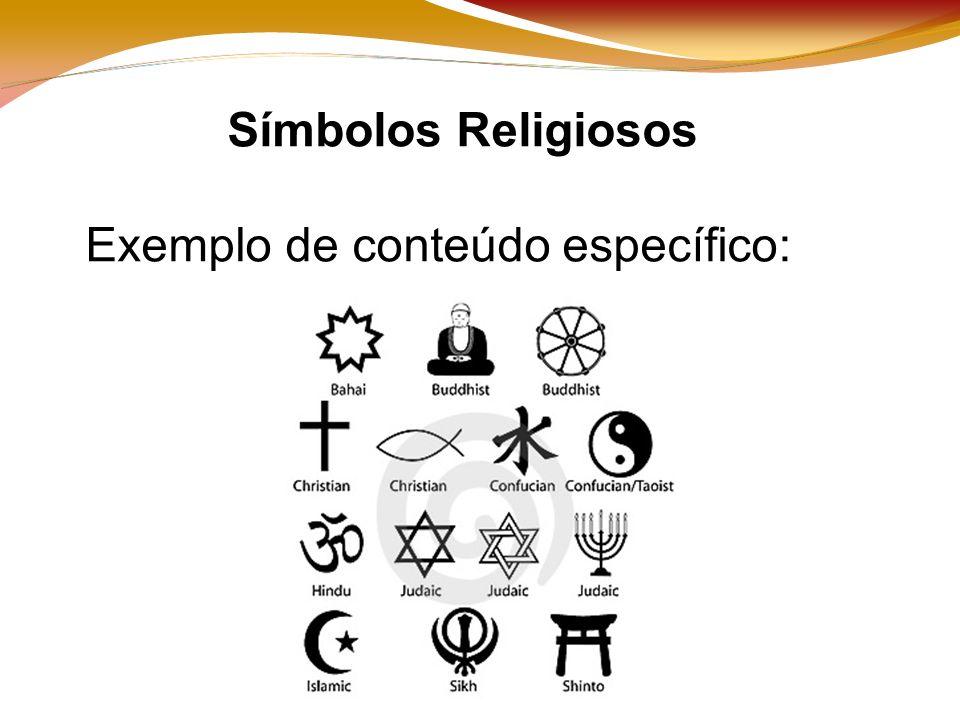 Símbolos Religiosos Exemplo de conteúdo específico: