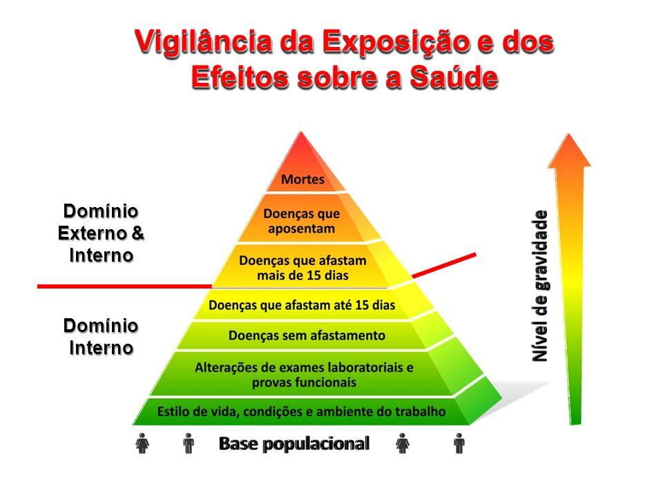 Vigilância da Exposição e dos Efeitos sobre a Saúde Domínio Externo & Interno Domínio Interno