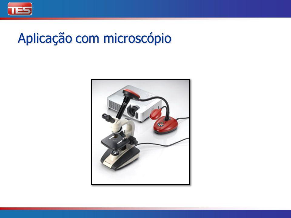 Aplicação com microscópio