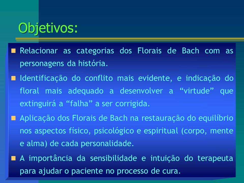 As personagens sob a ótica dos Florais de Bach...As personagens sob a ótica dos Florais de Bach...