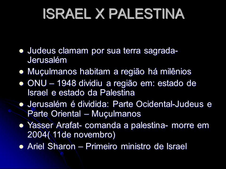 Judeus clamam por sua terra sagrada- Jerusalém Judeus clamam por sua terra sagrada- Jerusalém Muçulmanos habitam a região há milênios Muçulmanos habit