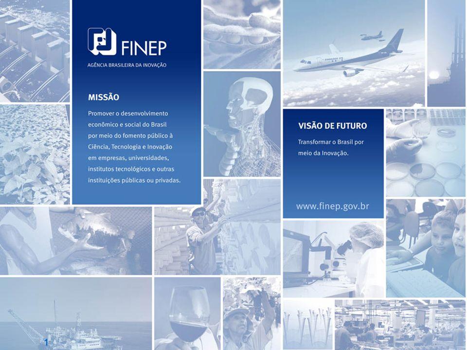 Carteira FINEP: Segmentos & Instrumentos Segmentos Valores em R$ milhões (*) Automotivo e outros 22