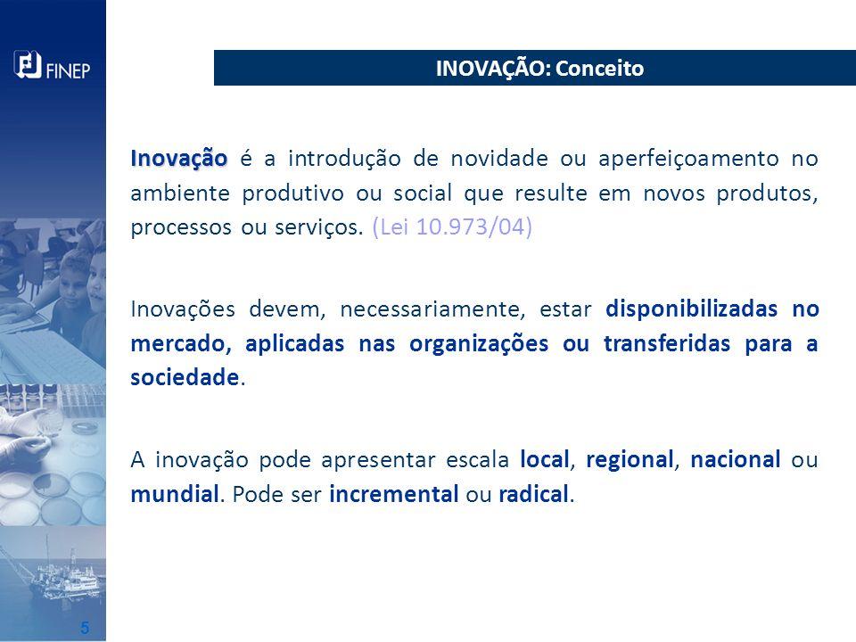 Políticas Públicas: prioridades de atuação Brasil Maior Estratégia Nacional de C,T&I Base Legal: exigências operacionais Lei 11.540 de 12/11/2007(Lei do FNDCT) Decreto 6.938 de 13/08/2009 (regulamenta Lei 11.540/07) Lei 10.973 de 02/12/2004 (Lei da Inovação) Decreto 5.563 de 11/10/2005 (regulamenta Lei 10.973/04) IN 01 de 25/06/2010 do CD do FNDCT Decreto 6.170 de 25/07/2007 INs 02 e 03 de 22/12/2010 Lei 4.320 de 17/03/1964 (aplicável à Subvenção Econômica) LDOs MARCOS REFERENCIAIS 6