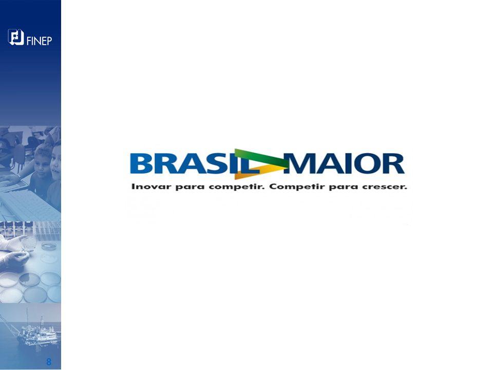 Diretrizes Estratégicas Promover a inovação e o desenvolvimento tecnológico Criar e fortalecer competências críticas da economia nacional Aumentar o adensamento produtivo e tecnológico das cadeias de valor Ampliar os mercados interno e externo das empresas brasileiras Garantir crescimento socialmente inclusivo e ambientalmente sustentável Ampliar os níveis de produtividade e competitividade da indústria brasileira Fonte: http://www.brasilmaior.mdic.gov.br/publicacao/recursos/arquivos/biblioteca/PBMbaixa.pdf Plano BRASIL MAIOR 2011-2014 9