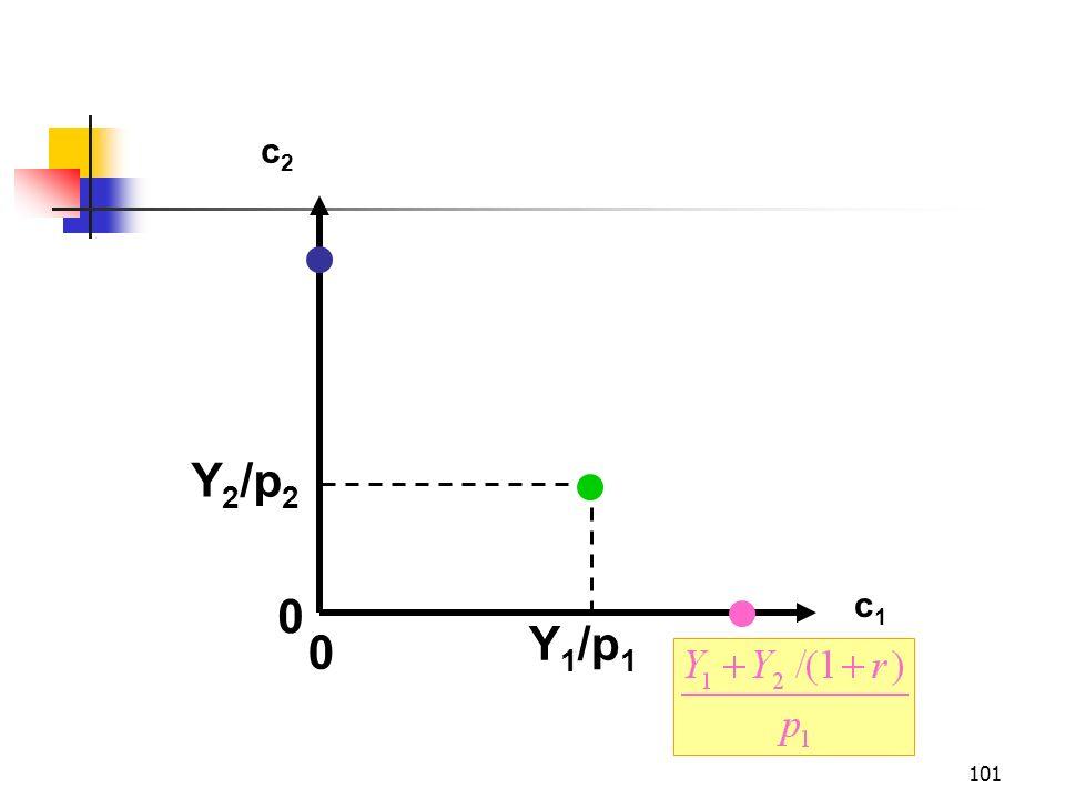 101 c1c1 c2c2 Y 2 /p 2 Y 1 /p 1 0 0