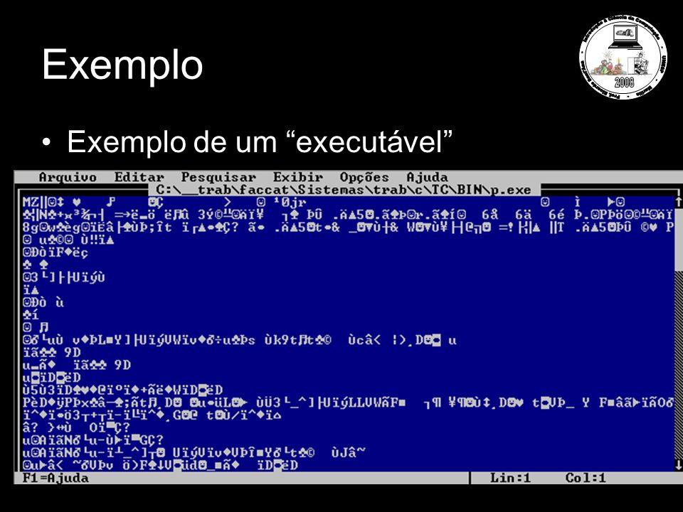 Exemplo Exemplo de um executável