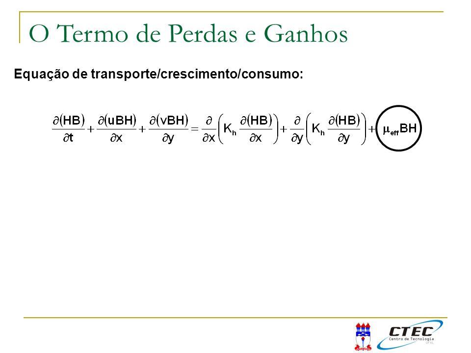Equação de transporte/crescimento/consumo: O Termo de Perdas e Ganhos
