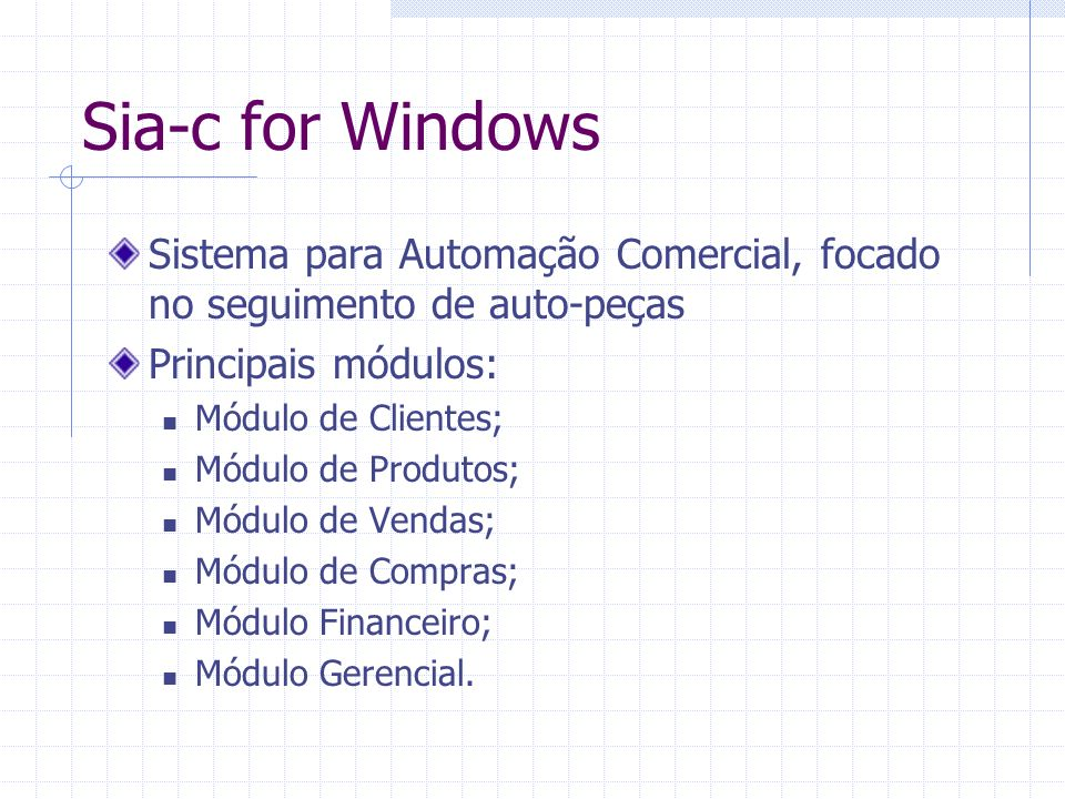 Sia-c for Windows Tela Principal