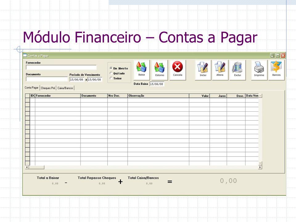 Módulo Financeiro – Contas a Pagar