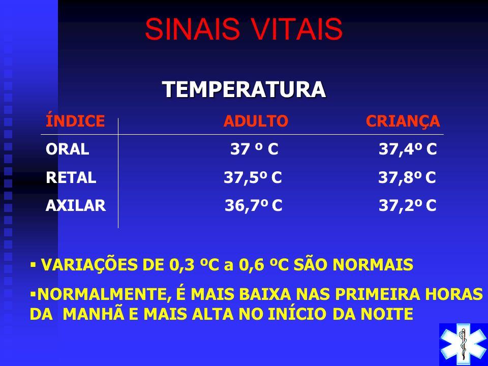TEMPERATURA -A temperatura reflete o balanceamento entre o calor produzido e o calor perdido pelo corpo. TEMPERATURA -A temperatura reflete o balancea