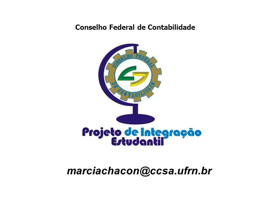 marciachacon@ccsa.ufrn.br Conselho Federal de Contabilidade
