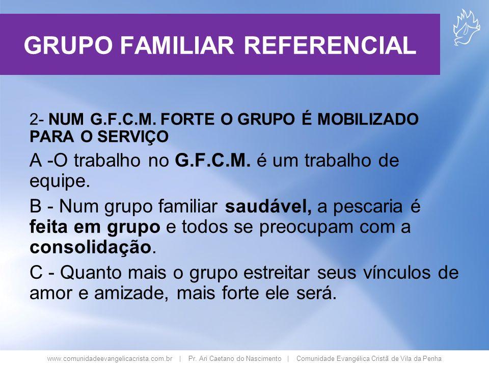 www.comunidadeevangelicacrista.com.br | Pr. Ari Caetano do Nascimento | Comunidade Evangélica Cristã de Vila da Penha 2- NUM G.F.C.M. FORTE O GRUPO É