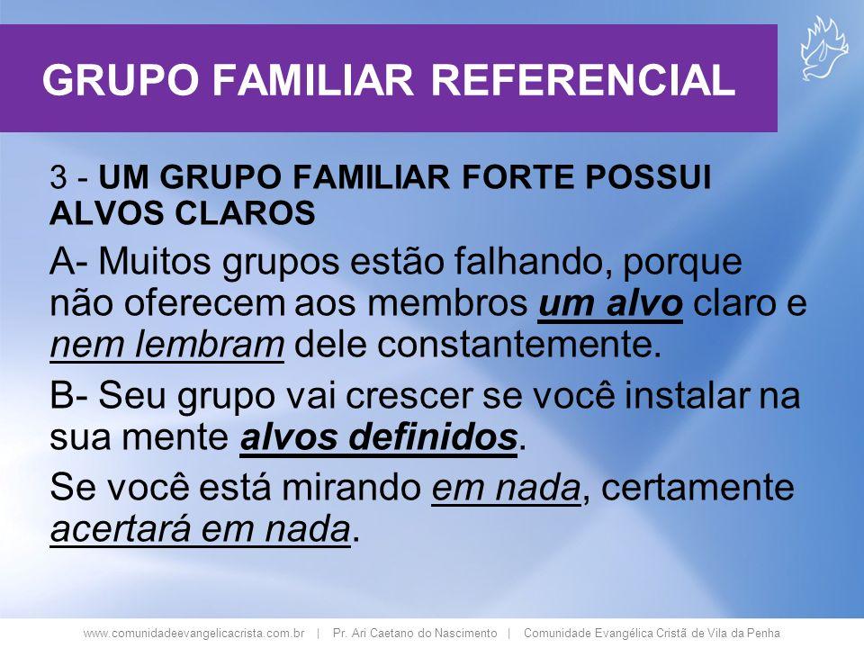 www.comunidadeevangelicacrista.com.br | Pr. Ari Caetano do Nascimento | Comunidade Evangélica Cristã de Vila da Penha 3 - UM GRUPO FAMILIAR FORTE POSS