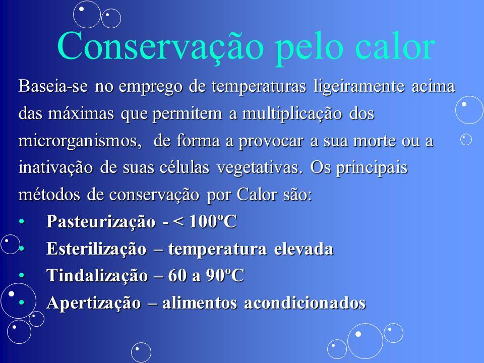 Conservação pelo controle da umidade Secagem naturalSecagem natural Desidratação ou secagem artificialDesidratação ou secagem artificial