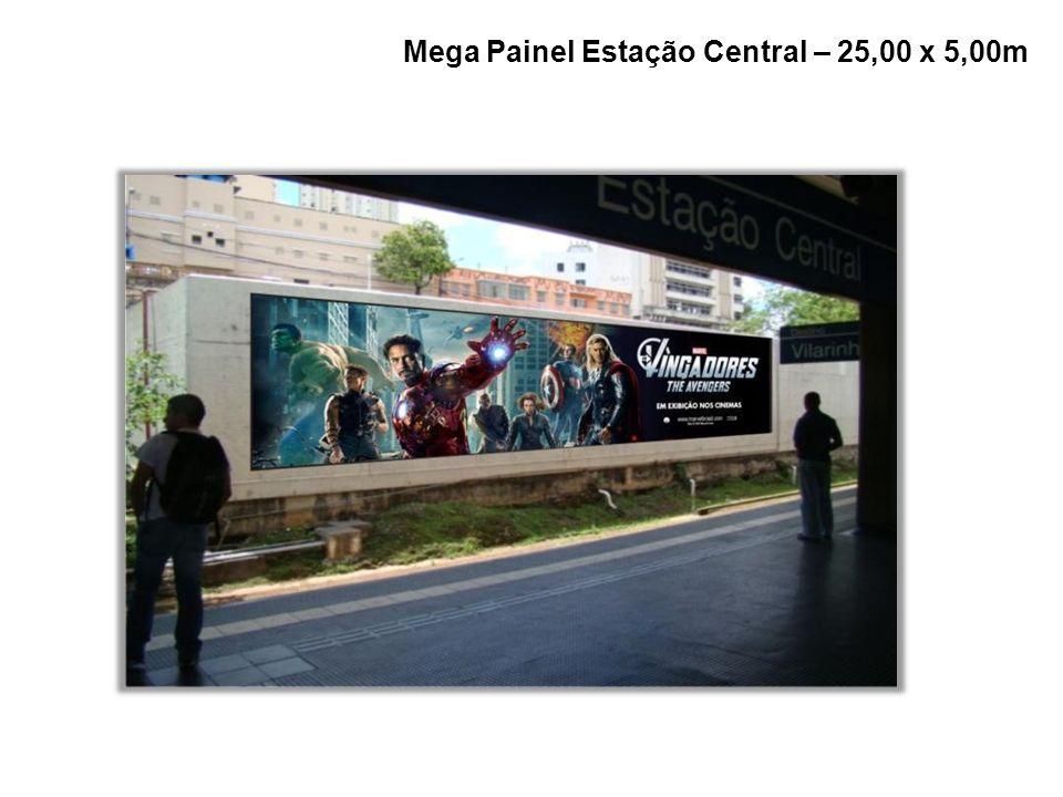 Mega Painel Estação Central – 25,00 x 5,00m