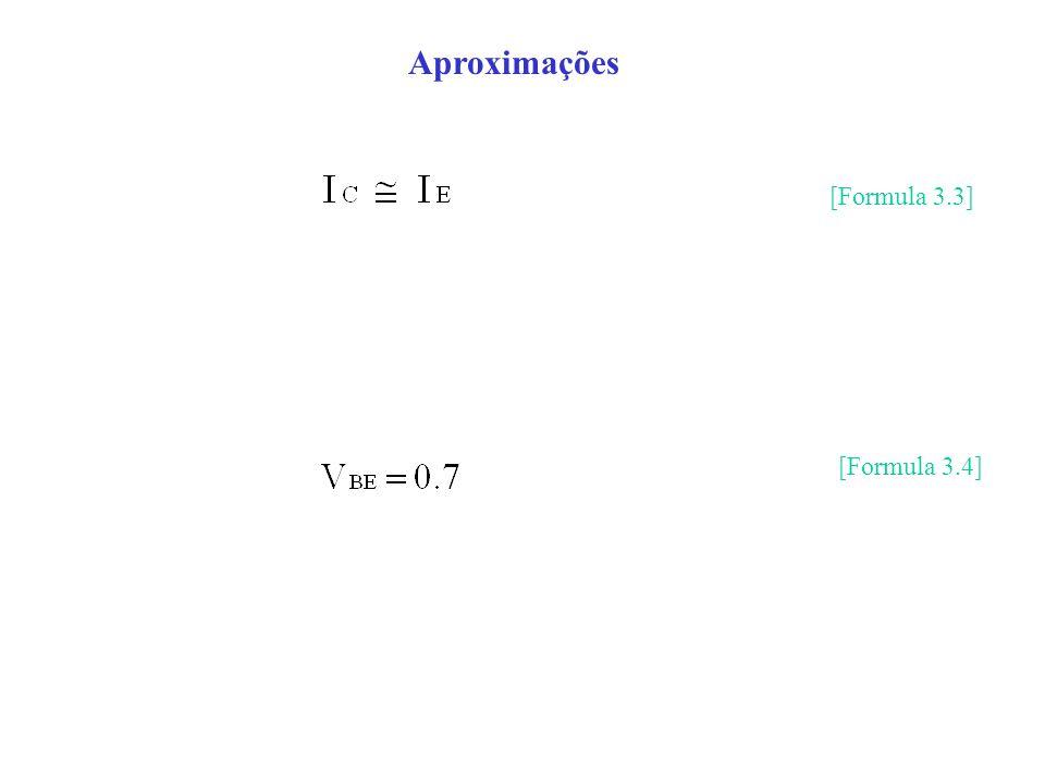 Aproximações [Formula 3.3] [Formula 3.4]