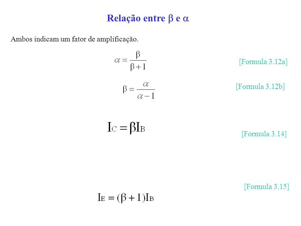 Relação entre e Ambos indicam um fator de amplificação. [Formula 3.12a] [Formula 3.12b] [Formula 3.14] [Formula 3.15]