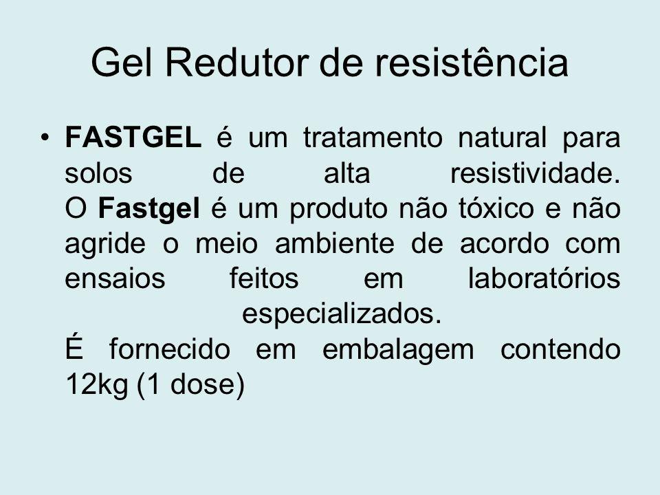 Gel Redutor de resistência FASTGEL é um tratamento natural para solos de alta resistividade. O Fastgel é um produto não tóxico e não agride o meio amb