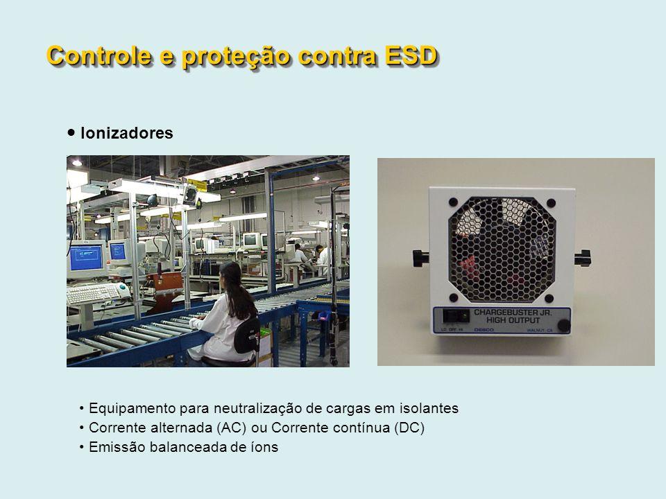 Equipamento para neutralização de cargas em isolantes Corrente alternada (AC) ou Corrente contínua (DC) Emissão balanceada de íons Controle e proteção