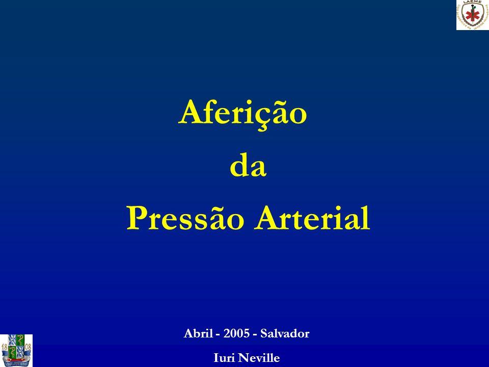 Aferição da Pressão Arterial Abril - 2005 - Salvador Iuri Neville