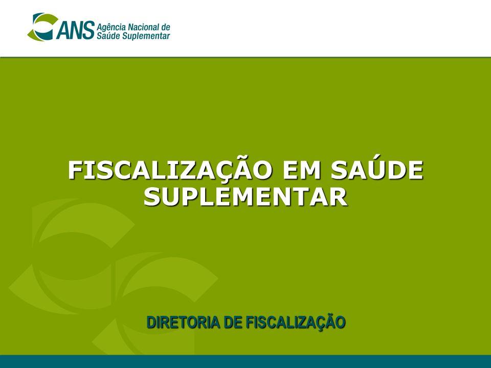 FISCALIZAÇÃO EM SAÚDE SUPLEMENTAR DIRETORIA DE FISCALIZAÇÃO