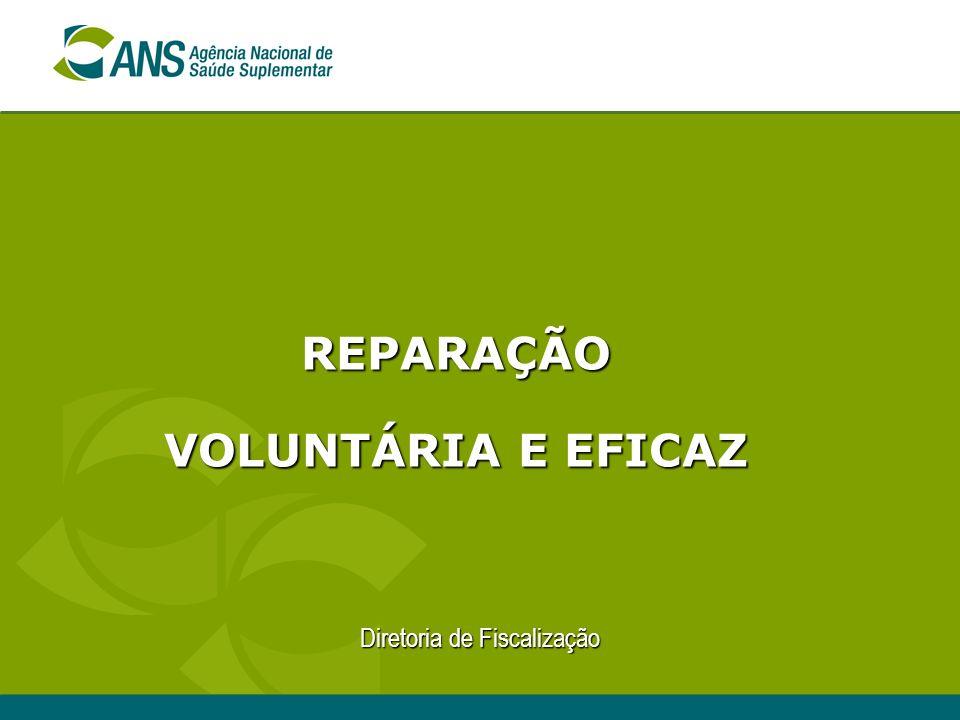 Diretoria de Fiscalização REPARAÇÃO VOLUNTÁRIA E EFICAZ