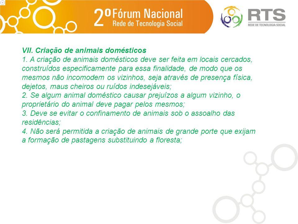 VII.Criação de animais domésticos 1.