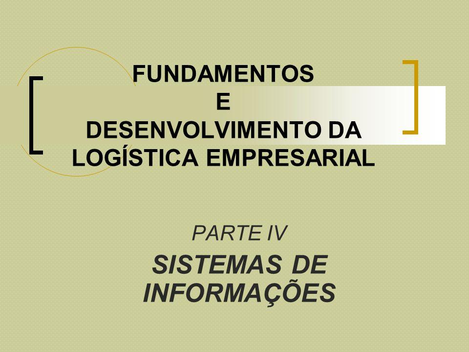 FUNDAMENTOS E DESENVOLVIMENTO DA LOGÍSTICA EMPRESARIAL PARTE IV SISTEMAS DE INFORMAÇÕES