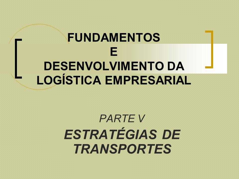 FUNDAMENTOS E DESENVOLVIMENTO DA LOGÍSTICA EMPRESARIAL PARTE V ESTRATÉGIAS DE TRANSPORTES