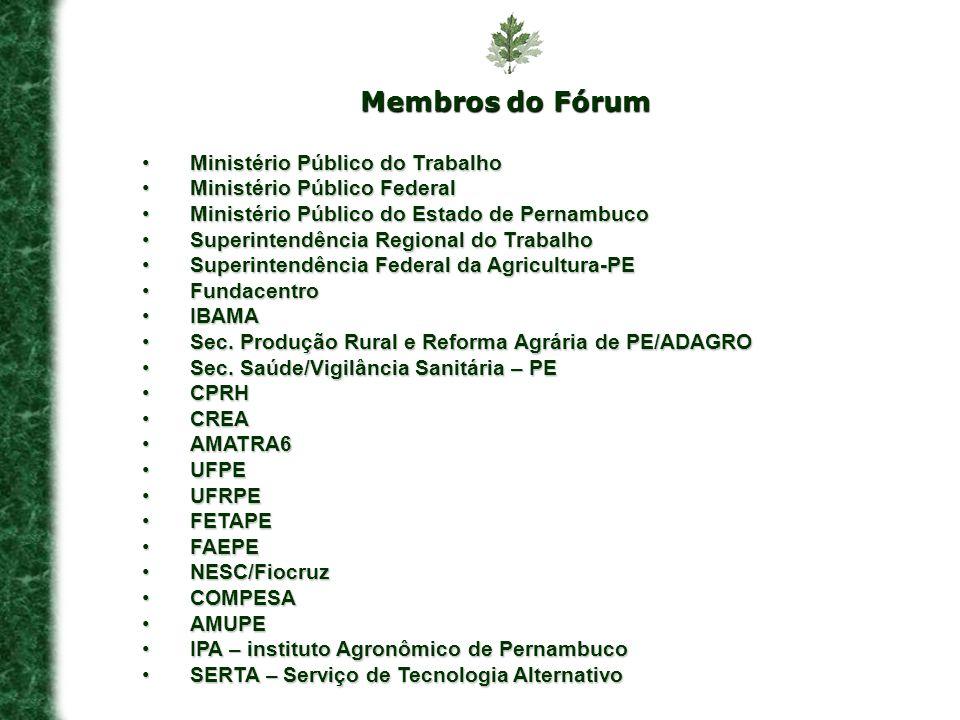 Membros do Fórum Ministério Público do TrabalhoMinistério Público do Trabalho Ministério Público FederalMinistério Público Federal Ministério Público