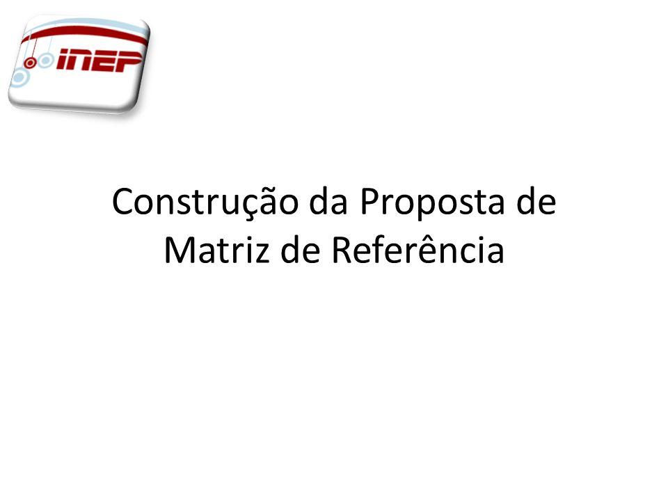 Construção da Proposta de Matriz de Referência