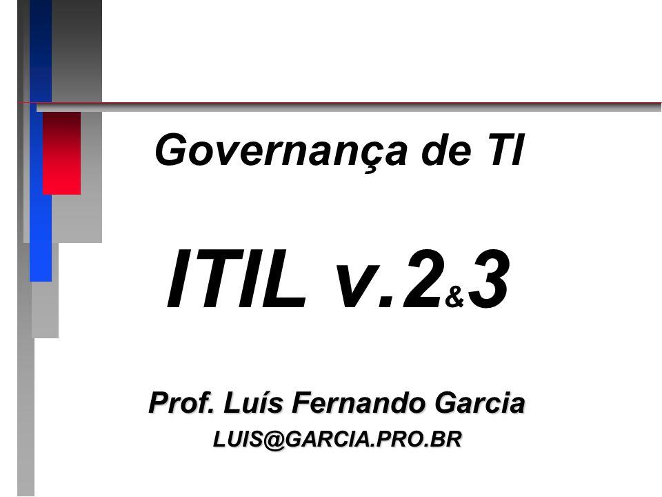 Governança de TI ITIL v.2 & 3 Prof. Luís Fernando Garcia LUIS@GARCIA.PRO.BR