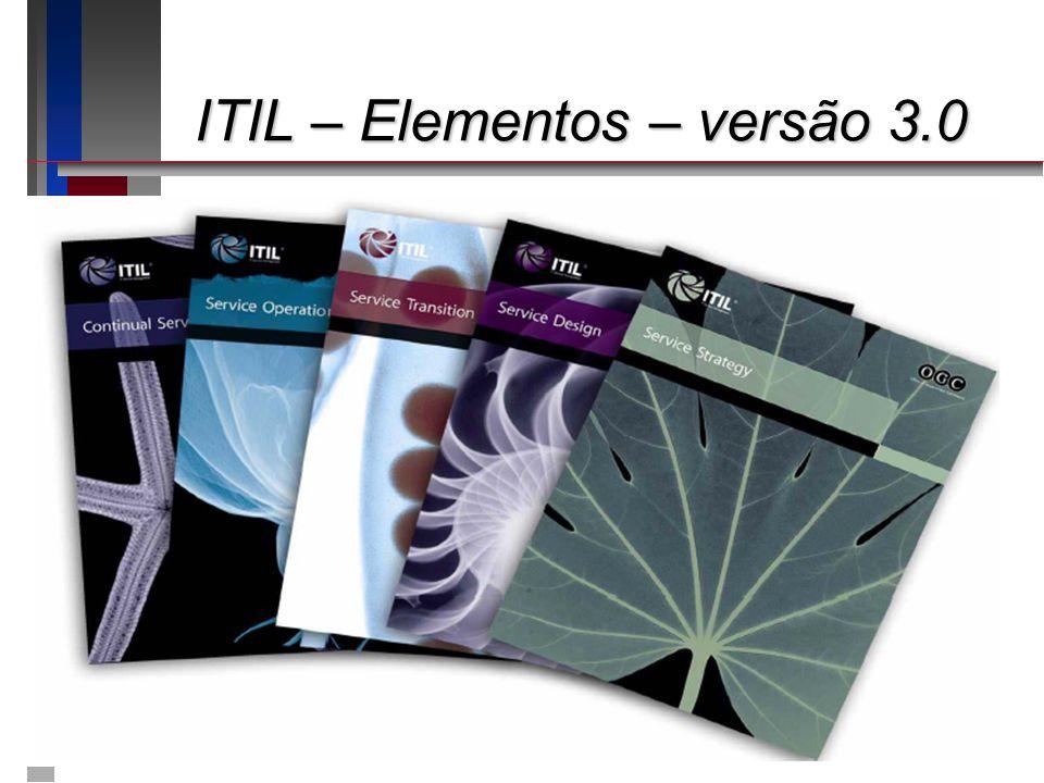 ITIL – Elementos – versão 3.0 ITIL – Elementos – versão 3.0