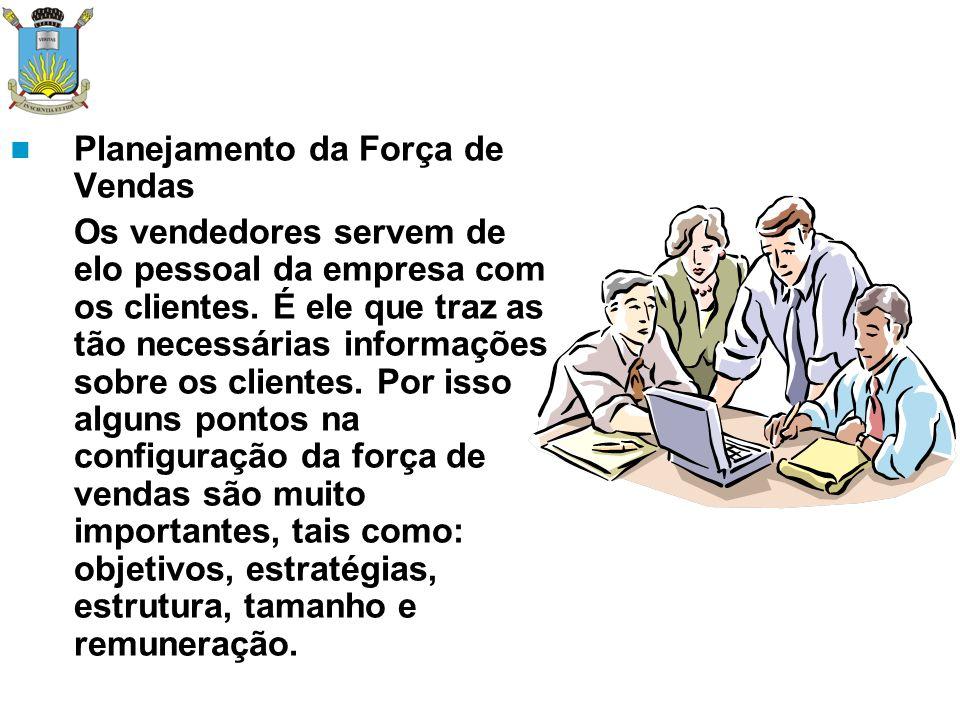 Objetivos e Estratégia da Força de Vendas a) – Quotas b) – Diagnosticar o problema do cliente/solução, formando uma parceria no lucro