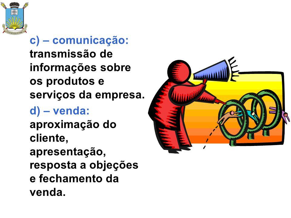 e) – atendimento: oferta de vários serviços aos clientes – consultoria para problemas, assistência técnica, obtenção de financiamento para clientes, agilização de entregas.