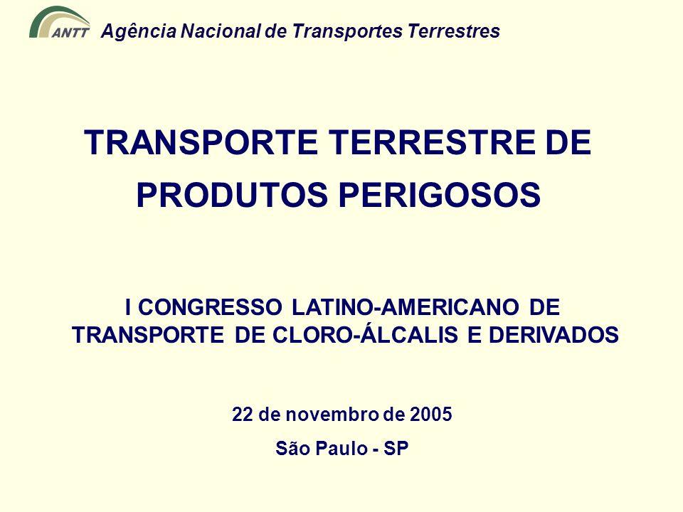 Agência Nacional de Transportes Terrestres TRANSPORTE TERRESTRE DE PRODUTOS PERIGOSOS I CONGRESSO LATINO-AMERICANO DE TRANSPORTE DE CLORO-ÁLCALIS E DE