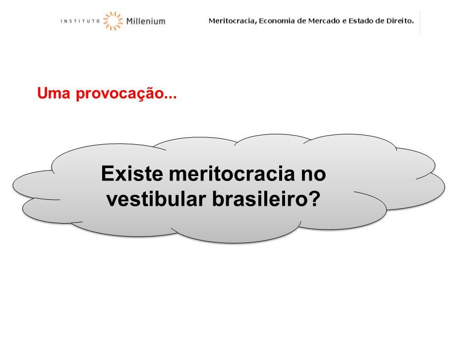Uma provocação... Existe meritocracia no vestibular brasileiro?