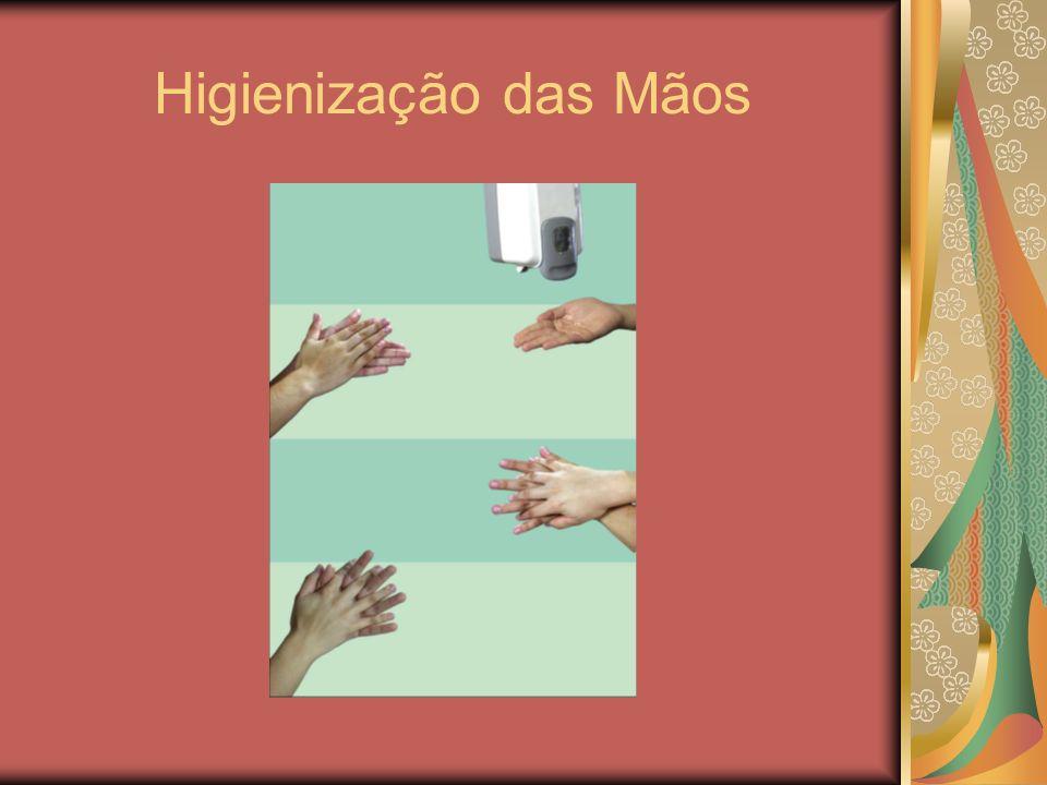 COMO FAZER? QUANDO FAZER? As mãos dos profissionais que atuam em serviços de saúde podem ser higienizadas utilizando-se: água e sabão, preparação alco