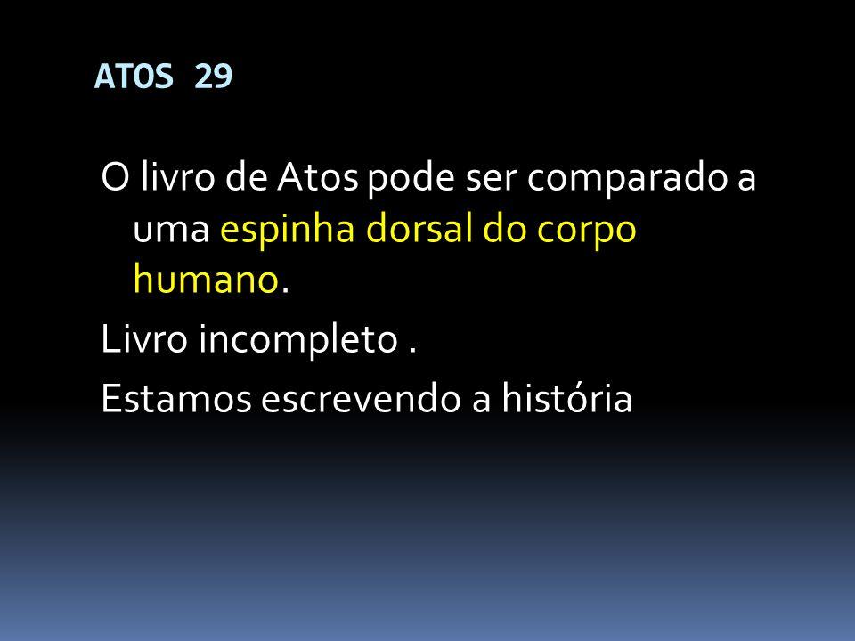 ESBOÇO DO LIVRO (Simplificado) 1 – Atos do apóstolo Pedro (1-12:25); 2 – Atos do apóstolo Paulo (13:1 - 28:31).