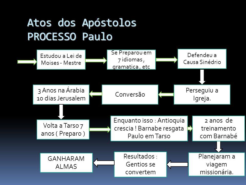 Atos dos Apóstolos PROCESSO TREINAR CAPACITAR PERSEVERAR CRER UNIDADE ENTUSIAMO ALEGRIA SINGELEZA