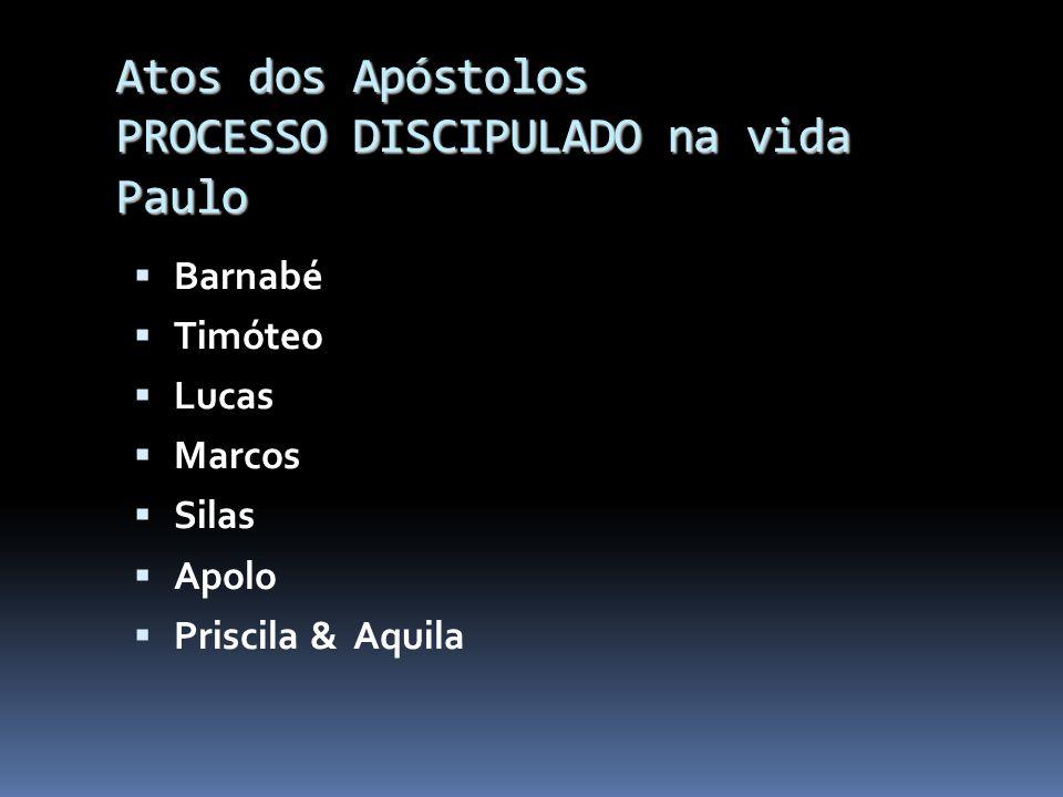 Atos dos Apóstolos PROCESSO DISCIPULADO TREINAR CAPACITAR PERSEVERAR CRER UNIDADE ENTUSIAMO ALEGRIA SINGELEZA MOTIVAR