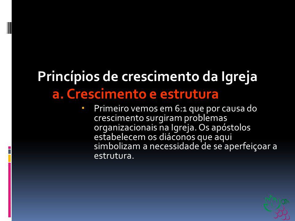O crescimento da Igreja Nos capítulos 6 a 8 de Atos podemos ver uma série de princípios de crescimento da Igreja.