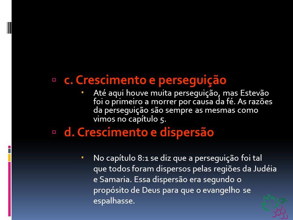 b. Crescimento e glória De 6:8 a 15 vemos sobre o segundo fator de crescimento: a unção e a glória de Deus na Igreja. A respeito de Estevão se diz que