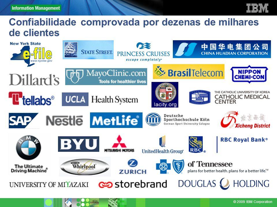 © 2009 IBM Corporation Confiabilidade comprovada por dezenas de milhares de clientes