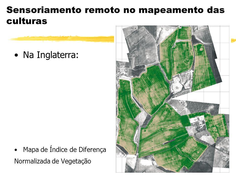 Sensoriamento remoto no mapeamento das culturas Na Inglaterra: Mapa de Índice de Diferença Normalizada de Vegetação