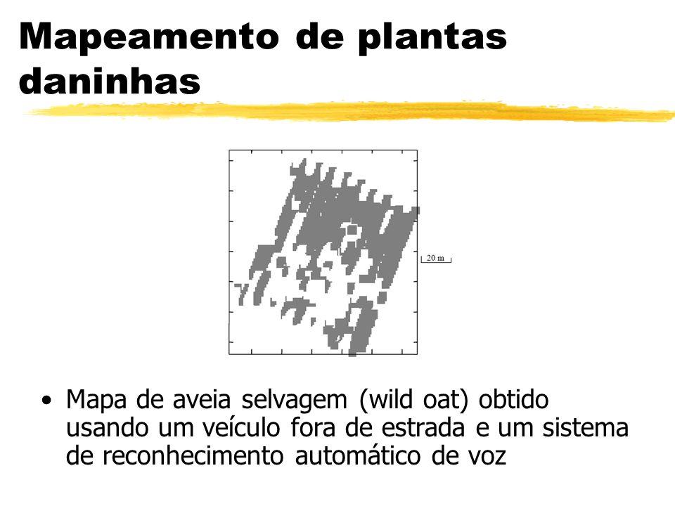 Mapeamento de plantas daninhas Mapa de aveia selvagem (wild oat) obtido usando um veículo fora de estrada e um sistema de reconhecimento automático de
