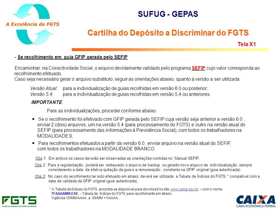 - Se recolhimento em guia GFIP gerada pelo SEFIP Encaminhar, via Conectividade Social, o arquivo devidamente validado pelo programa SEFIP cujo valor c