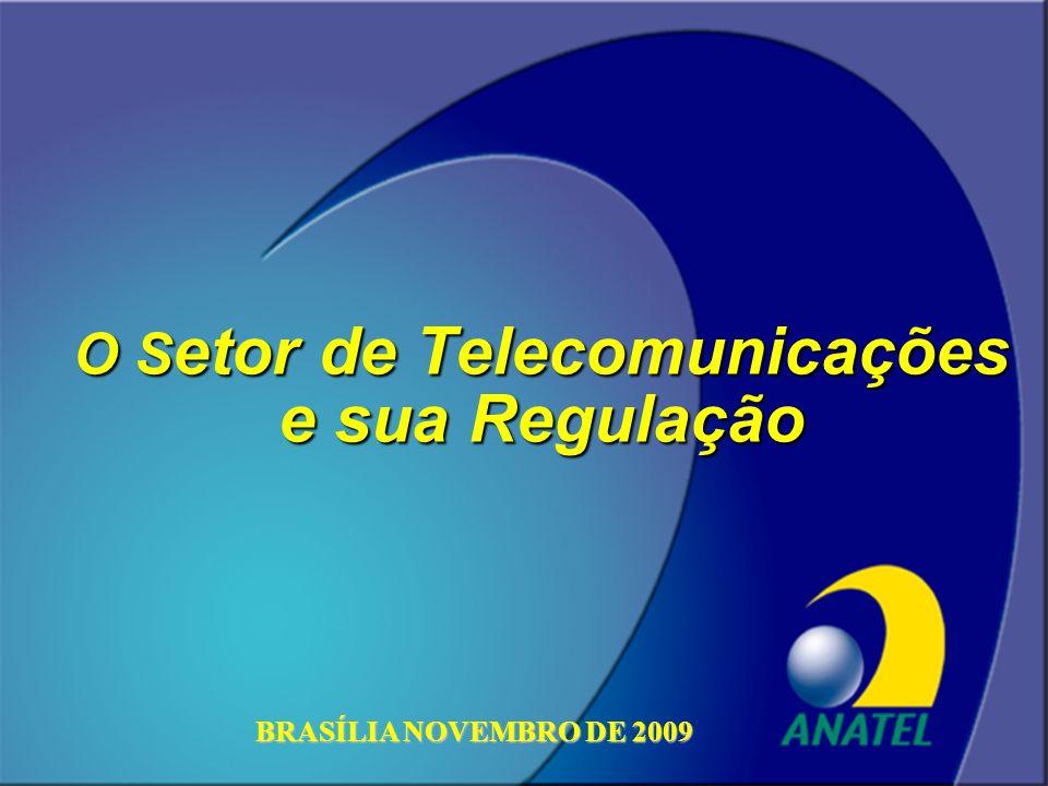 ANATEL O S etor de Telecomunicações e sua Regulação BRASÍLIA NOVEMBRO DE 2009